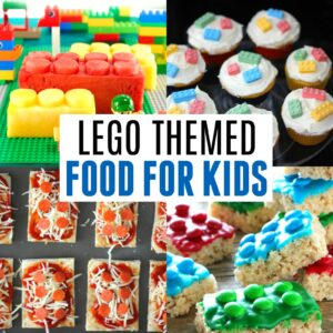 Easy LEGO Brick Themed Food for Kids