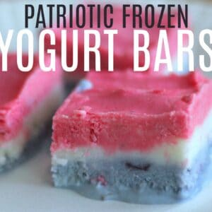 Patriotic Frozen Yogurt Bars