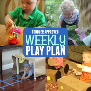 Toddler Approved Weekly Play Plan