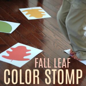 Fall Leaf Color Stomp for Toddlers