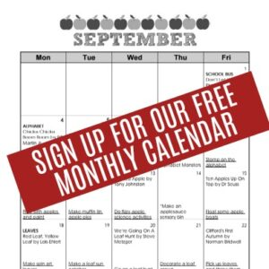 Free Monthly Calendar for Toddlers