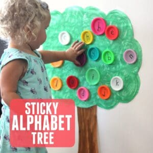 Sticky Alphabet Tree for Toddlers