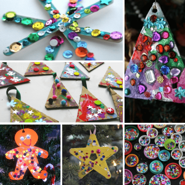sparkly ornaments toddlers can make
