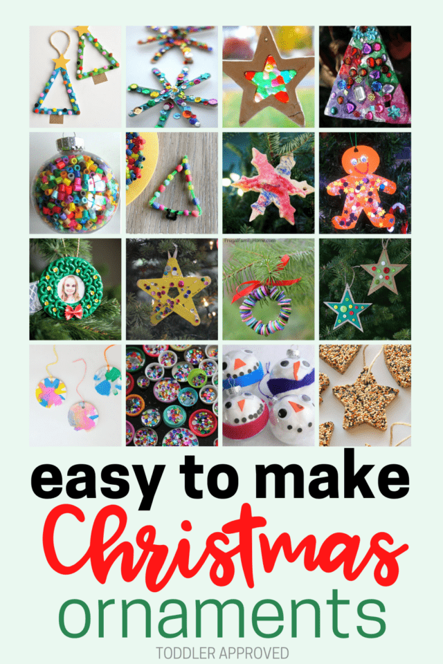 simple Christmas ornaments for toddlers to make