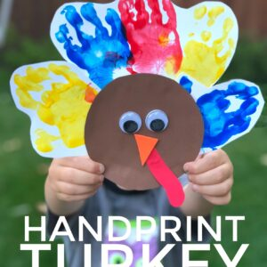 Easy Handprint Turkey Craft for Toddlers
