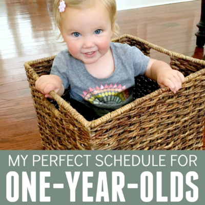 simple one year old schedule