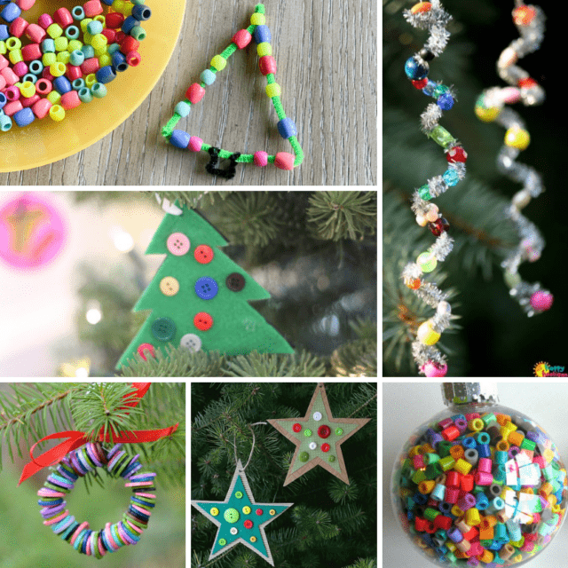 ornaments made with beads or buttons