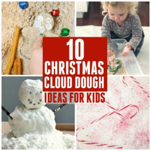 10 Christmas Taste-Safe Cloud Dough Ideas for Kids