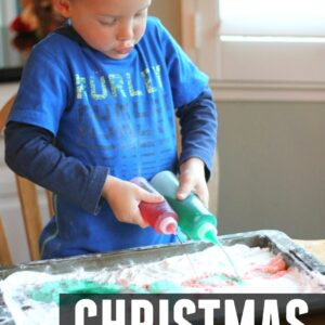Christmas Fizzy Drips Science for Kids