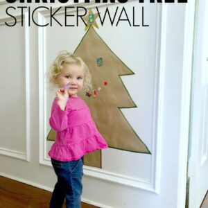 Christmas Tree Sticker Wall- Easy Fine Motor Activity