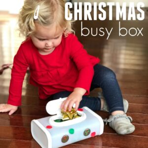 Christmas Busy Box for Toddlers