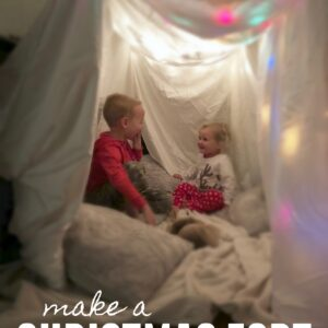 Twinkle Lights Christmas Fort for Kids