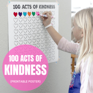 100 Acts of Kindness Free Printable Countdown Poster