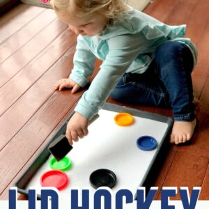 Easy Lid Hockey Game for Toddlers