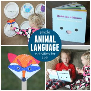 Simple Animal Language Activities for Kids | Quiet as a Mouse Review