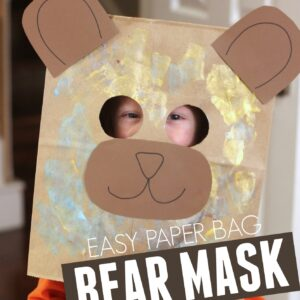 Easy Paper Bag Bear Mask for Kids