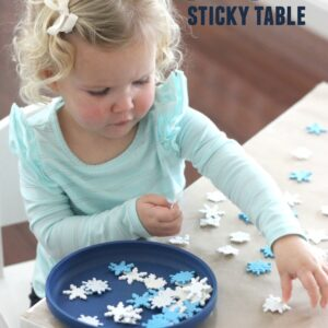 Snowy Day Sticky Table for Toddlers