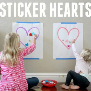 Easy Sticker Heart Toddler Activity