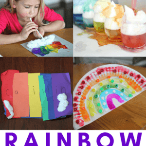 Easy Rainbow Crafts, Activities, and Books for Toddlers & Preschoolers