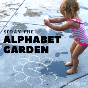 Spray the Alphabet Garden for Toddlers
