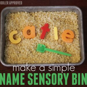 Easy Name Sensory Activity and Books for Toddlers and Preschoolers