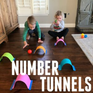 Number Tunnels- Easy Counting Activity for Toddlers