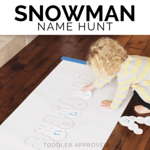 Snowman Themed Name Hunt for Toddlers