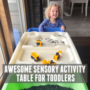 Awesome Toddler Sensory Activity Table!