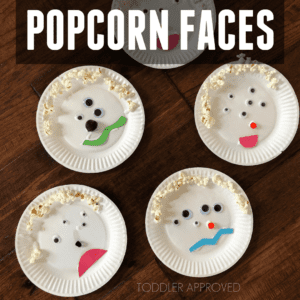 Wacky Popcorn Faces for Toddlers
