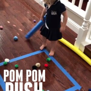 Pom Pom Push Indoor Game for Kids