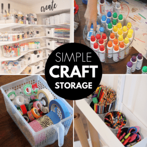 Awesome Kids Craft Storage & Organization Tips
