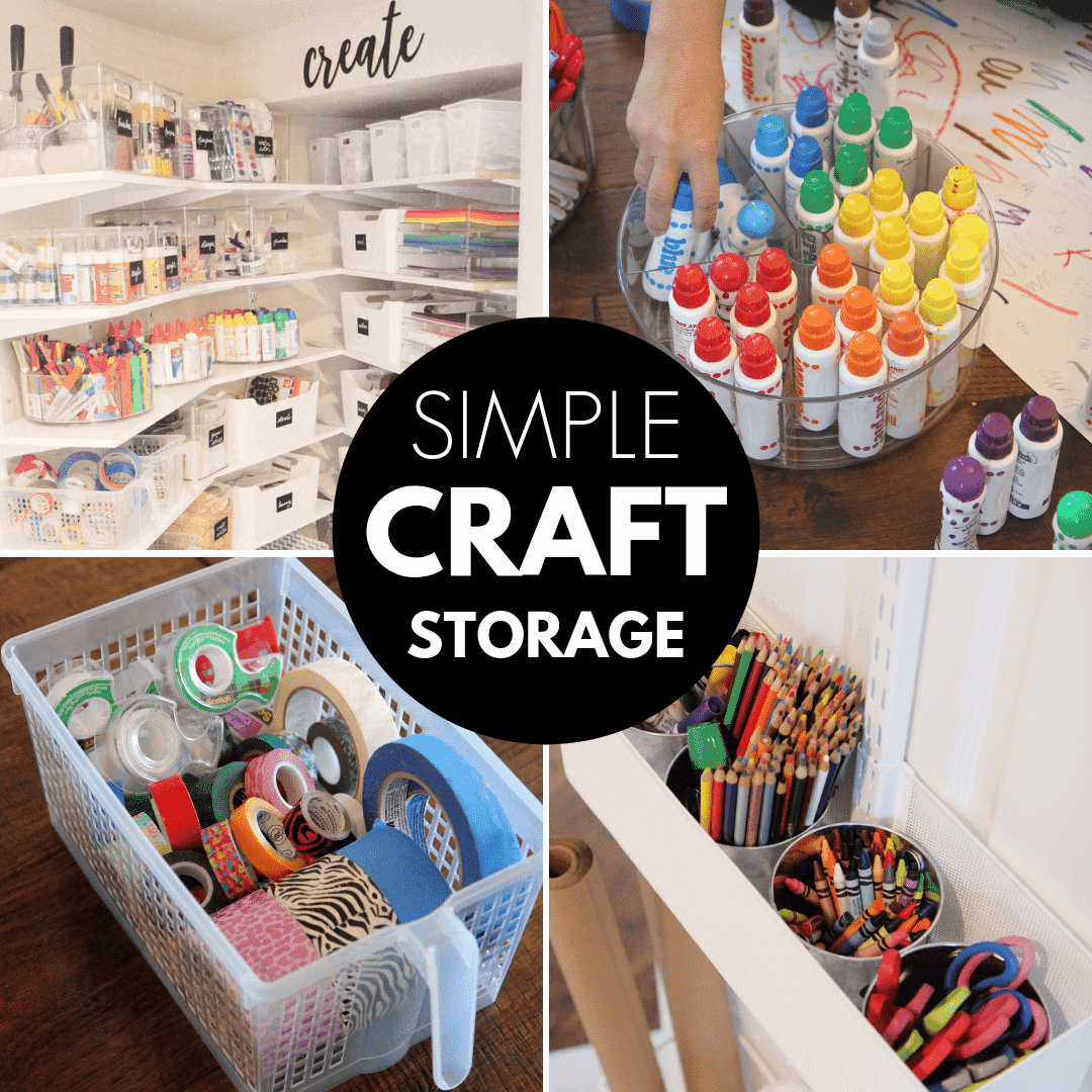Awesome Kids Craft Storage Organization Tips Toddler Approved