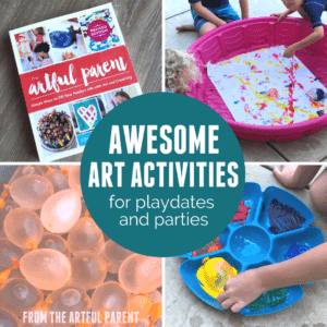 Awesome Art Activities for Playdates & Parties with The Artful Parent by Jean Van't Hul