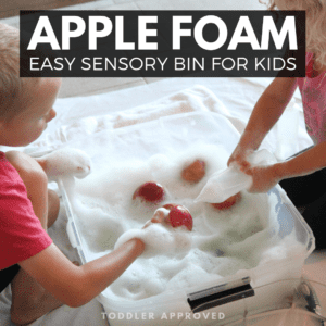 Apple Foam Bath Sensory Bin