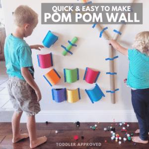 Quick & Easy to Make Pom Pom Wall