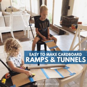 Cardboard Car Ramps and Tunnels for Kids