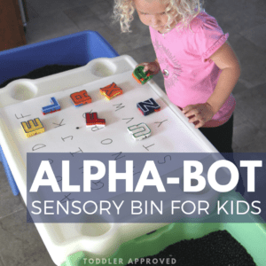 Alphabet Bean Sensory Bin for Toddlers & Preschoolers