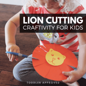 Lion Puppet Cutting Craftivity for Preschoolers