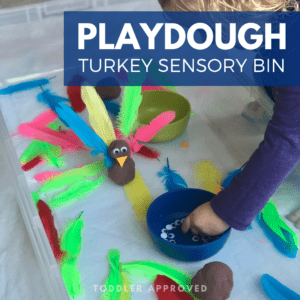 Turkey Playdough Fine Motor Skills Activity
