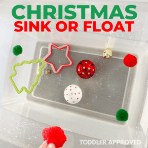 Christmas Sink or Float: Toddler Science