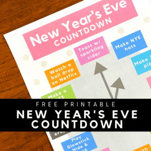 Printable New Year's Eve Countdown