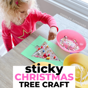 Sticky Tree: Holiday Craft for Toddlers