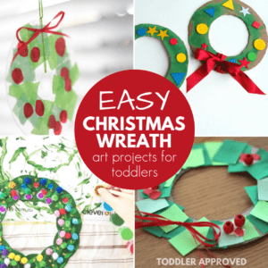 Christmas Wreaths Toddlers Can Make