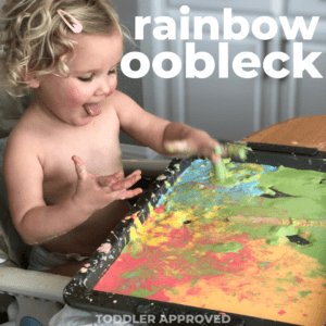 Rainbow Oobleck Toddler Sensory Play