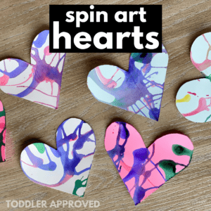 Mess Free Toddler Heart Craft for Valentine's Day