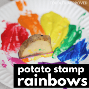 How To Make Potato Stamp Rainbows