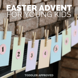 Religious Easter Countdown for Young Children