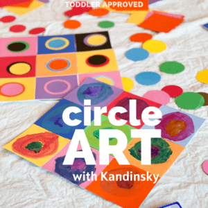 Kandinsky Inspired Circle Art for Kids