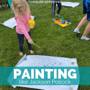 Jackson Pollock Painting with Kids