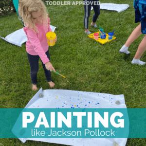 Jackson Pollock Painting with Kids